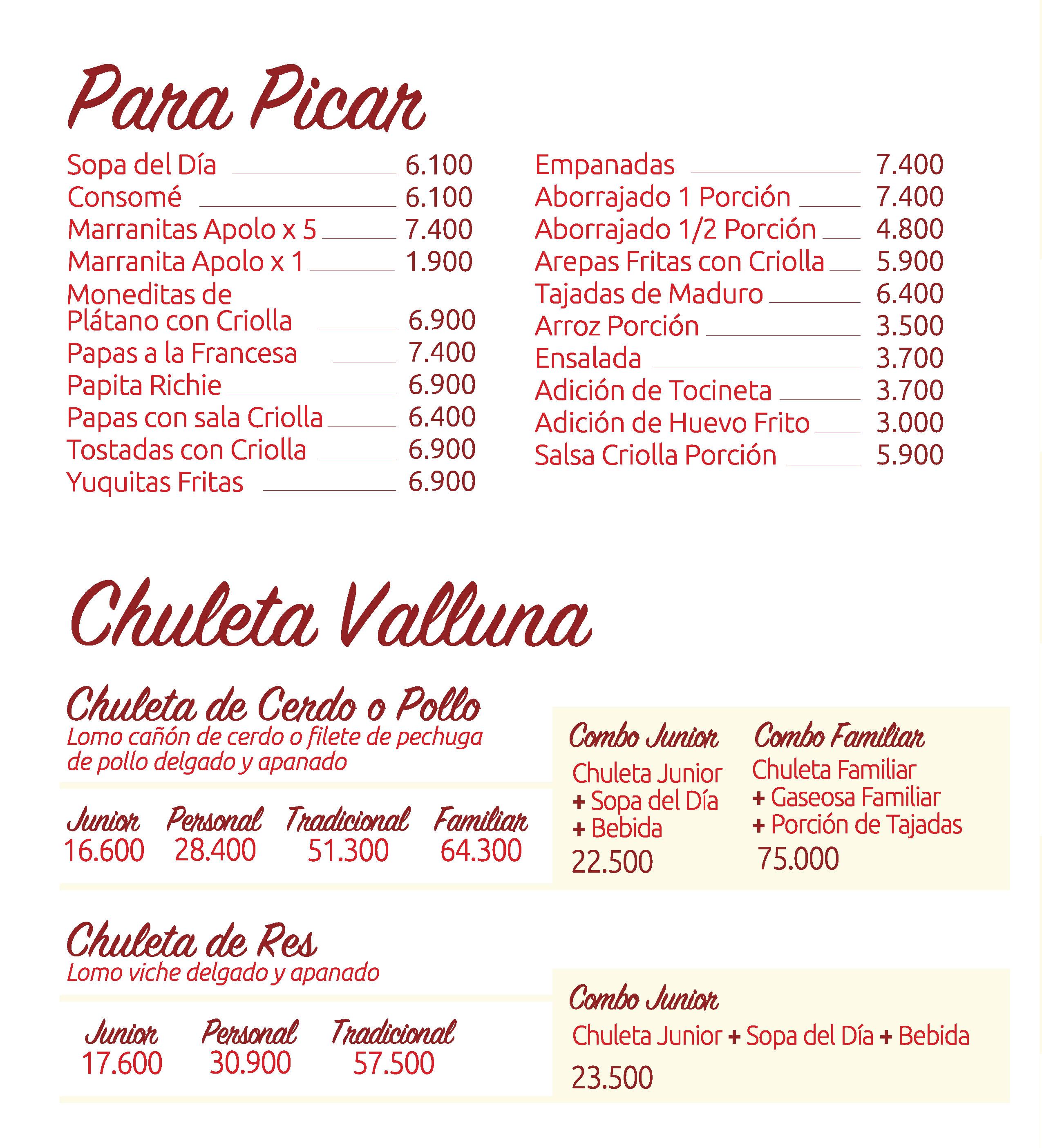 Chuleta Valluna de Apolo Restaurantes